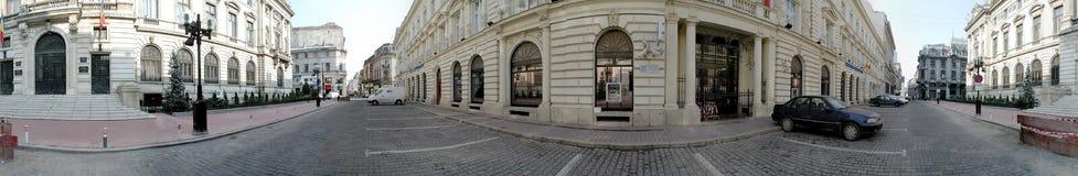 National Bank de Rumania 360 grados de panorama Imagenes de archivo