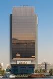 National Bank of Dubai. Landmark NBD building part of the old downtown of Dubai, along the Dubai Creek Royalty Free Stock Photo