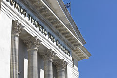 National bank of Greece building. Classical building in Thessaloniki city in Greece Stock Images