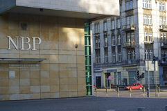 National Bank polacco che costruisce in Katowice Fotografia Stock