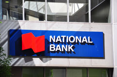 National Bank sign Stock Photography