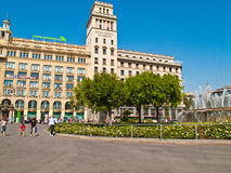 National Bank of Spain in Barcelona Royalty Free Stock Images