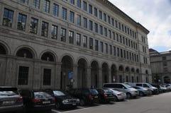 National Bank suizo en rico-ciudad del ¼ de ZÃ fotografía de archivo libre de regalías