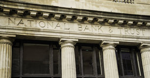 National Bank & Trust Facade Royalty Free Stock Photo