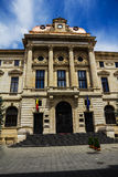 National Bank van de bouwvoorgevel van Roemenië, Boekarest, Roemenië Royalty-vrije Stock Foto