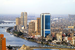 National Bank von Ägypten Stockfotografie