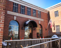 National Baseball Hall of Fame. Cooperstown, New York, USA. April 5, 2016. Entrance  to the National Baseball Hall of Fame Royalty Free Stock Photos