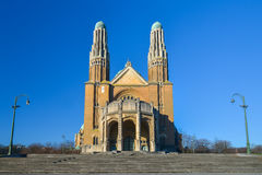 The National Basilica of the Sacred Heart Koekelberg in Brussels, Belgium Royalty Free Stock Images