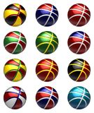 National basketball balls Royalty Free Stock Photo