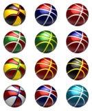 National basketball balls royalty free illustration