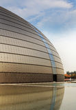 The national big theater of china. Before water in autumn Royalty Free Stock Images