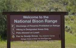National Bison Range_oldest wildlife refuges Royalty Free Stock Images