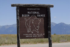 National Bison Range_oldest wildlife refuges Royalty Free Stock Photo