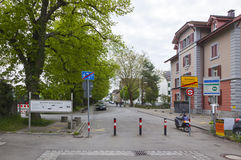 National border between Germany and Switzerland in Konstanz city Royalty Free Stock Image