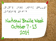 National Braillle week - October 2014. Stock Images