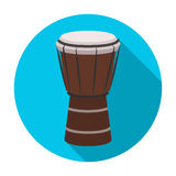 National brazilian drum icon in flat style isolated on white background.  Stock Image