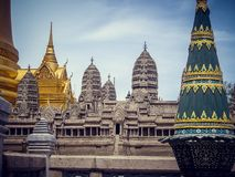 National building in Thailand with high peaks. Tourism royalty free stock photography