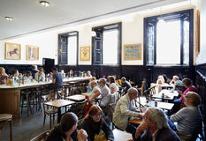 National cafe interior with people in the National Gallery in London Royalty Free Stock Images