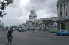National Capitol Building Havana Cuba. National Capitol (El Capitolio) Building Havana Cuba. The building is now home to the Cuban Academy of Sciences Royalty Free Stock Photo
