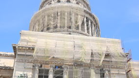 The National Capitol building in Havana,Cuba is on repairs. stock video footage