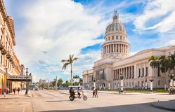 National Capitol building in historical centre of Havana City of Cuba. royalty free stock images