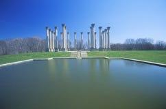 National Capitol Columns with Pool, National Arboretum, Washington, D.C. Royalty Free Stock Photo