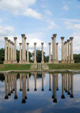 National Capitol Columns reflected. The 22 Corinthian sandstone columns known as the National Capitol Columns are a famous landmark located in the National Stock Photography