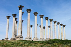 National Capitol Columns Washington DC Arboretum. A notable and unusual landmark in Washington DC are the National Capitol Columns at the US National Arboretum Royalty Free Stock Image