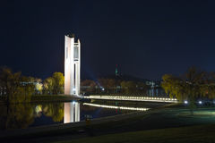 National Carillon Canberra. A night shot of the National Carillon in Canberra, Australia's capital Stock Image