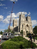 National Cathedral After the Earthquake Royalty Free Stock Image