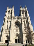 National cathedral in Washington DC. Blue sky national cathedral lovely day be outside Royalty Free Stock Photo