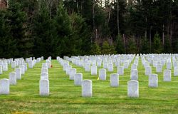 National Cemetery. Headstones at an American National Cemetery Stock Image