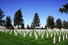 National Cemetery - Little Bighorn Battlefield Stock Photography