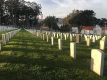 National Cemetery, Presidio San Francisco, peacefully overlooking the Golden Gate Bridge, , 2. Stock Photography