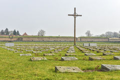 National cemetery in Terezin Royalty Free Stock Images