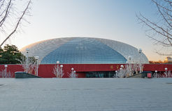 National Centre for the Performing Arts winter morning. Beijing. Stock Photos