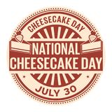 National Cheesecake Day stock illustration