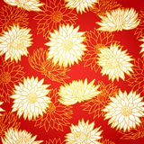 National chinese seamless pattern with. Chrysanthemum. Chinese new year 2015. Beautiful vector illustration. Background stock illustration