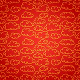 National chinese seamless pattern with cloud. Royalty Free Stock Photos