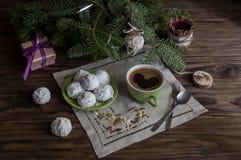 National, Christmas greek cookies `kourabies` royalty free stock photography
