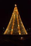National Christmas Tree. Washington DC - December 5, 2015: The National Christmas tree is lit up for the holiday season near the White House stock photo
