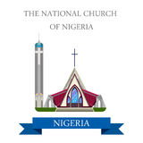 The National Church of Nigeria Flat historic vecto Stock Photo