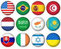 National circle icon collection 2 Stock Photos