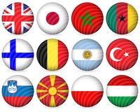 National circle icon collection 3 Stock Image