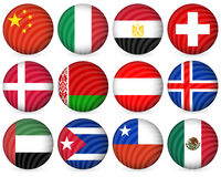 National circle icon collection 5 Royalty Free Stock Photo