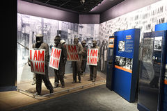 The National Civil Rights Museum in Memphis Tennessee. Memphis, TN, USA - June 9, 2017: I am A Man exhibit as part of the National Civil Rights Museum and the stock photos