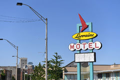 The National Civil Rights Museum in Memphis Tennessee. Memphis, TN, USA - June 9, 2017: The Lorraine Motel and site of the National Civil Rights Museum where Dr stock photos