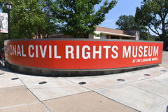 The National Civil Rights Museum in Memphis Tennessee. Memphis, TN, USA - June 9, 2017: The National Civil Rights Museum at the Lorraine Motel where Dr. Martin stock photography