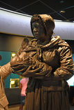 The National Civil Rights Museum in Memphis Tennessee. Memphis, TN, USA - June 9, 2017: Sculpture display of black slavewoman and child at the National Civil stock image