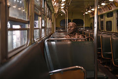 The National Civil Rights Museum in Memphis Tennessee. Memphis, TN, USA - June 9, 2017: Sculpture of Rosa Parks inside bus at the National Civil Rights Museum stock images